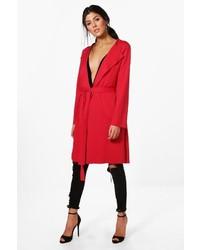 Красное пальто дастер