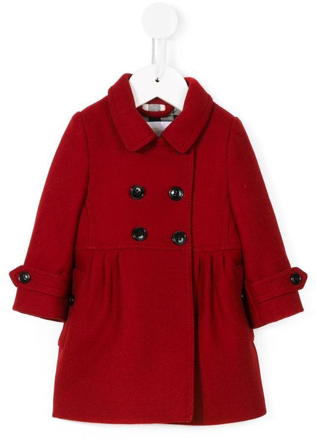 ... Детское красное пальто для девочке от Burberry 94084be23db1b