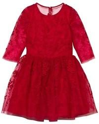 Красное платье из фатина
