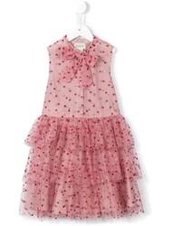 Детское красное платье из фатина для девочке