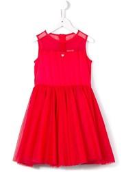 Детское красное платье из фатина для девочке от Armani Junior