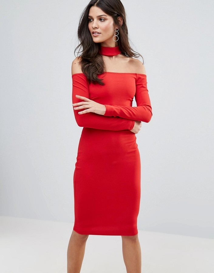 258b6db1f6d ... Красное платье-миди от Jessica Wright ...