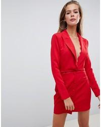 Красное платье-смокинг