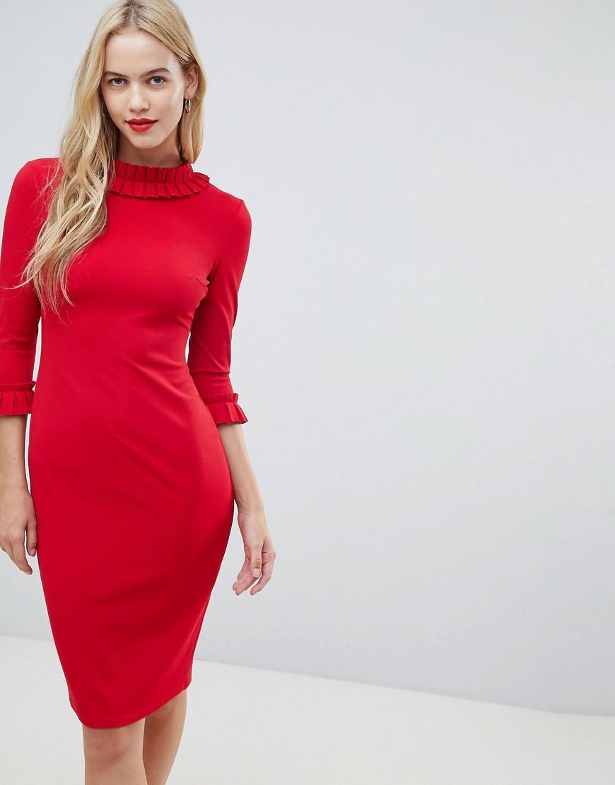 ae2e37bacce ... Красное платье-футляр от City Goddess