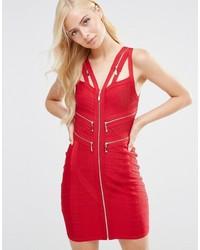 Женское красное платье-футляр от Forever Unique