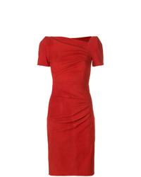 Женское красное платье-футляр от Talbot Runhof