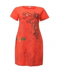 Красное платье от Indiano Natural