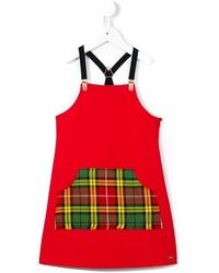 Детское красное платье для девочке от Junior Gaultier