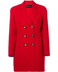 Женское красное полупальто от Versace