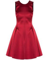 Женское красное сатиновое коктейльное платье от Emporio Armani