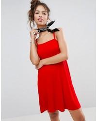Женское красное свободное платье от Asos