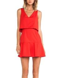 Женское красное свободное платье от Black Halo