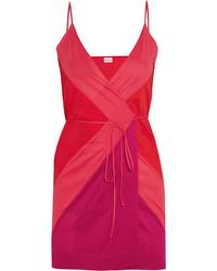 Красное шелковое платье-майка от Eres