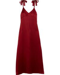 Красное шелковое платье-майка от Reformation