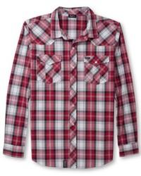 495bd0445579664 С чем носить красно-белую рубашку с длинным рукавом в шотландскую ...