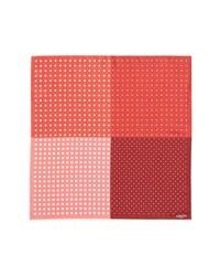 Красно-белый нагрудный платок в горошек