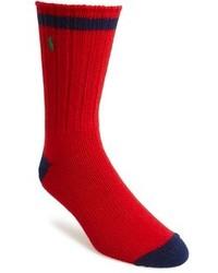 Красно-темно-синие носки