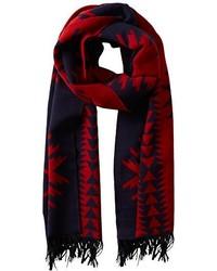 Красно-темно-синий шарф