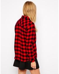 f652e38095b ... Женская красно-черная классическая рубашка в клетку от Only