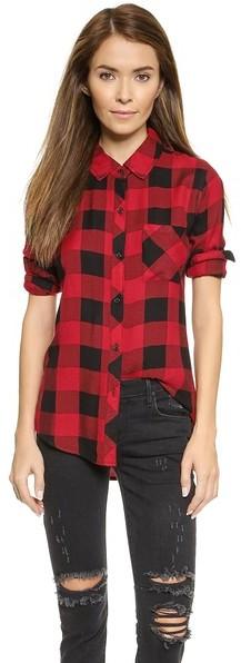 e3076875552 ... Женская красно-черная классическая рубашка в клетку от Rails ...