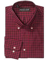 Красно-черная рубашка с длинным рукавом в клетку
