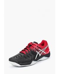 Мужские красно-черные кроссовки от Asics