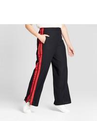 Красно-черные широкие брюки