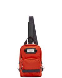 Красно-черный рюкзак из плотной ткани
