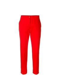 Красные брюки-галифе