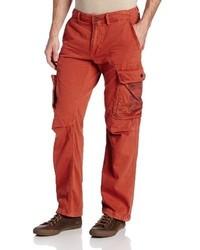 Красные брюки карго