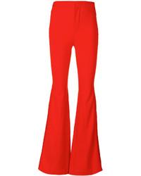Красные брюки-клеш