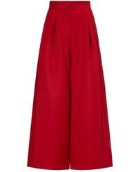 Красные брюки-кюлоты