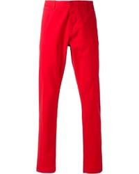 Красные брюки чинос