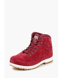 Женские красные замшевые ботинки на шнуровке от Sigma