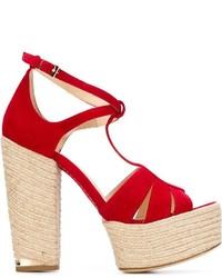 473a63fac Купить красные замшевые массивные босоножек на каблуке - модные ...