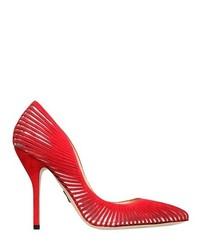 Женские красные замшевые туфли с вырезом от Paul Andrew