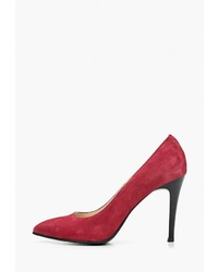 Красные замшевые туфли от Fagro