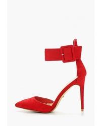 Красные замшевые туфли от Ideal Shoes