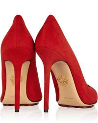 ... Красные замшевые туфли от Charlotte Olympia 7265db59021e1