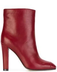 Женские красные кожаные ботильоны от Agnona
