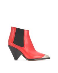 Красные кожаные ботильоны от Isabel Marant