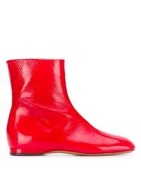 Красные кожаные ботильоны от Marni