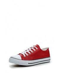 e63d29b66d03 Купить женские красные кожаные кеды - модные модели кед (1081 ...
