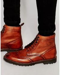 Красные кожаные повседневные ботинки