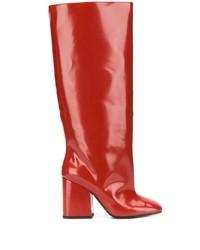 Красные кожаные сапоги от Marni