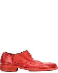 Красные кожаные туфли дерби