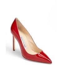 Красные кожаные туфли