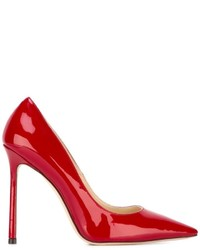 Женские красные кожаные туфли от Jimmy Choo