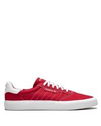 Мужские красные низкие кеды из плотной ткани от adidas