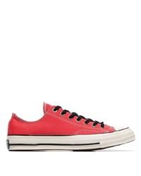 Мужские красные низкие кеды из плотной ткани от Converse